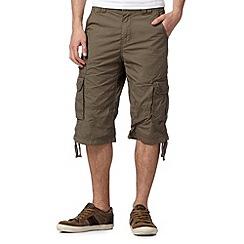 RJR.John Rocha - Designer khaki three quarter length shorts