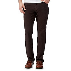 RJR.John Rocha - Big and tall designer brown regular fit trousers