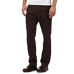 RJR.John Rocha - Dark red straight leg trousers