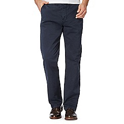 RJR.John Rocha - Big and tall designer navy flat front straight leg chinos