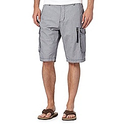 RJR.John Rocha - Big and tall designer navy basket weave cargo shorts