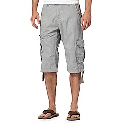 RJR.John Rocha - Big and tall designer light grey basket weave three quarter length shorts