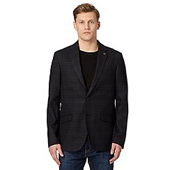 RJR.John Rocha - Big and tall designer dark grey checked blazer