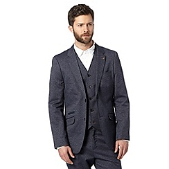RJR.John Rocha - Big and tall designer navy cotton birds eye blazer