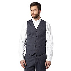 RJR.John Rocha - Big and tall designer navy textured waistcoat
