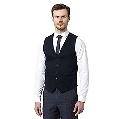 RJR.John Rocha - Big and tall designer navy cotton stretch waistcoat