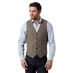 RJR.John Rocha - Big and tall designer brown puppy tooth waistcoat
