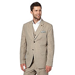 RJR.John Rocha - Big and tall designer natural herringbone striped blazer