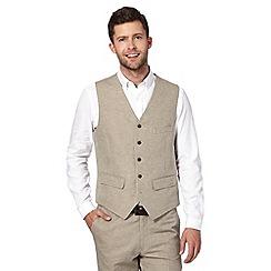 RJR.John Rocha - Designer natural herringbone waistcoat