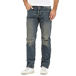 RJR.John Rocha - Big and tall designer dark blue vintage wash straight fit jeans