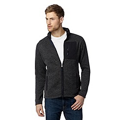 RJR.John Rocha - Big and tall designer dark grey zip fastening fleece