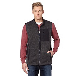 RJR.John Rocha - Big and tall designer dark grey fleece lined gilet