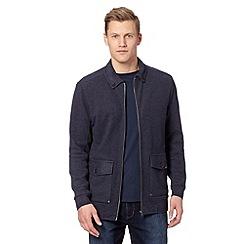 RJR.John Rocha - Designer navy pique sweat jacket