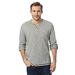 RJR.John Rocha - Big and tall designer grey textured button up top