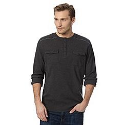 RJR.John Rocha - Designer dark grey knitted grandad jumper