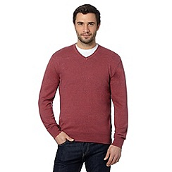 RJR.John Rocha - Big and tall designer red twisted knit jumper