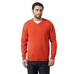 RJR.John Rocha - Big and tall designer orange plain knitted jumper