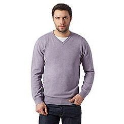 RJR.John Rocha - Big and tall designer purple plain knitted jumper