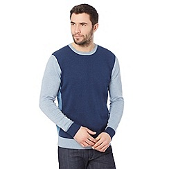 RJR.John Rocha - Designer dark blue colour block jumper