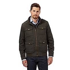 RJR.John Rocha - Big and tall designer olive zip through harrington jacket