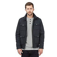 RJR.John Rocha - Big and tall designer navy zip though harrington jacket