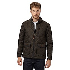 RJR.John Rocha - Big and tall designer brown textured quilted jacket