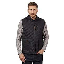 RJR.John Rocha - Big and tall designer dark grey quilted gilet