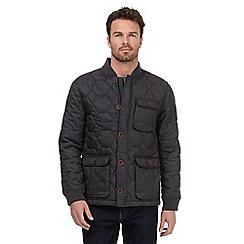 RJR.John Rocha - Big and tall dark grey quilted jacket
