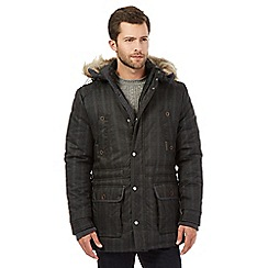 RJR.John Rocha - Big and tall black check parka jacket