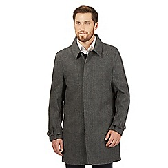 RJR.John Rocha - Big and tall grey wool blend mac coat