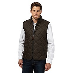 RJR.John Rocha - Big and tall brown quilted gilet