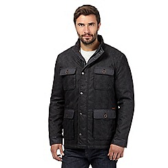 RJR.John Rocha - Big and tall dark grey quilted four pocket jacket