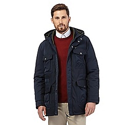 RJR.John Rocha - Big and tall navy shower resistant coat