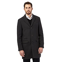 RJR.John Rocha - Big and tall dark green twill epsom coat