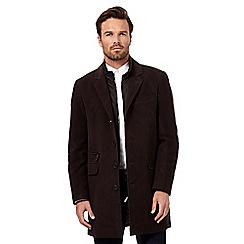 RJR.John Rocha - Big and tall dark brown mock 2-in-1 coat