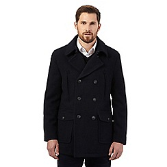 RJR.John Rocha - Big and tall navy reefer coat