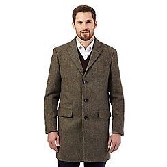 RJR.John Rocha - Big and tall green harris tweed epsom coat