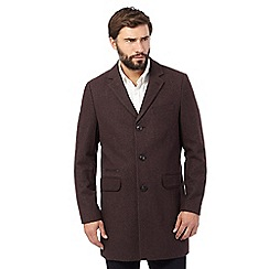 RJR.John Rocha - Big and tall plum epsom coat