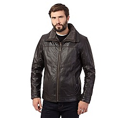 RJR.John Rocha - Big and tall brown leather jacket