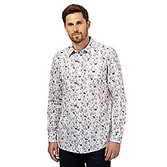 RJR.John Rocha - Big and tall white floral print shirt