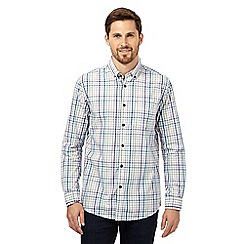 RJR.John Rocha - Big and tall purple gingham long sleeved shirt