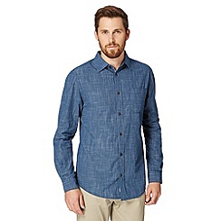 RJR.John Rocha - Big and tall designer dark blue checked short sleeved shirt