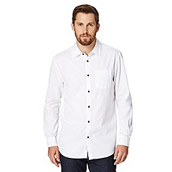 RJR.John Rocha - Big and tall designer white textured long sleeved shirt