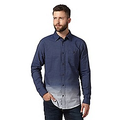 RJR.John Rocha - Big and tall designer navy faded stripe shirt
