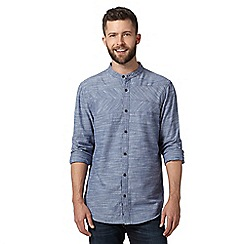 RJR.John Rocha - Big and tall designer blue chambray grandad shirt