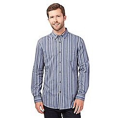 RJR.John Rocha - Big and tall blue textured stripe shirt