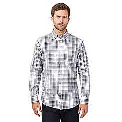RJR.John Rocha - Big and tall blue herringbone gingham checked shirt