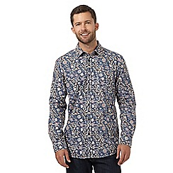 RJR.John Rocha - Big and tall dark orange floral leaf long sleeved shirt