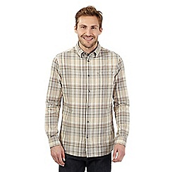 RJR.John Rocha - Natural checked long sleeved shirt