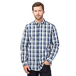 RJR.John Rocha - Navy twill checked shirt